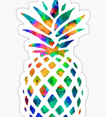pretty pineapple Sticker