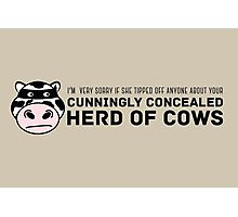Cunningly Concealed Herd of Cows Photographic Print