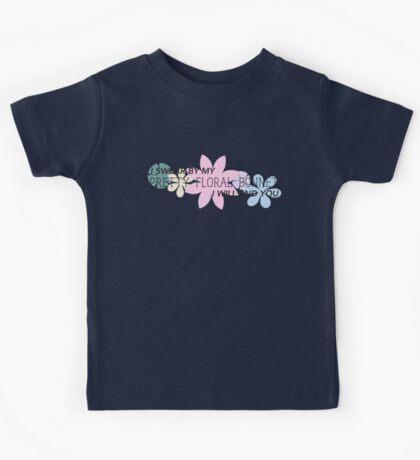 Pretty Floral Bonnet Kids Tee
