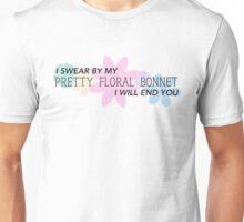 Pretty Floral Bonnet Unisex T-Shirt