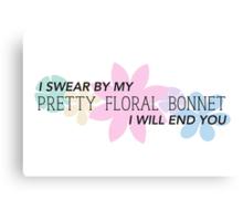 Pretty Floral Bonnet Canvas Print