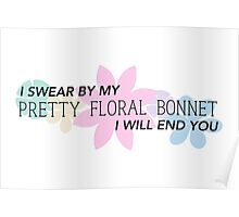 Pretty Floral Bonnet Poster