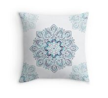 It is Icy Cold Outside, #redbubble, #mandala, #abstract Throw Pillow