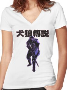 Jin Roh Trooper Women's Fitted V-Neck T-Shirt