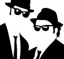 The Blues Brothers - Jake & Elwood by gueguette