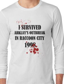 I SURVIVED ARKLAY'S OUTBREAK IN RACCOON CITY 1998 Long Sleeve T-Shirt