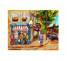 EGGSPECTATION RUE LAURIER RESTAURANT MONTREAL Art Print