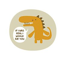 The Not Real Dinosaur Photographic Print