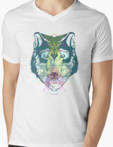 wolf triangle Mens V-Neck T-Shirt