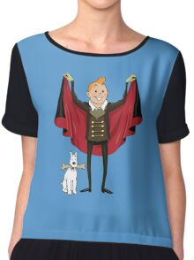 tintin and milo halloween Chiffon Top