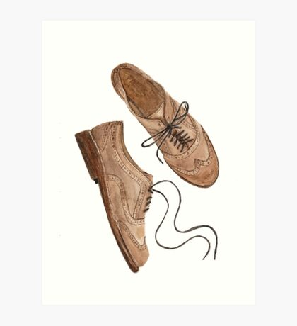 Brogues watercolour illustration by Paris Lomé Art Print