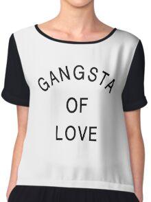 Gangsta Of Love - Black Color Chiffon Top