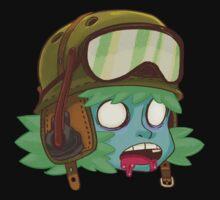Zombie Head Tanker One Piece - Short Sleeve