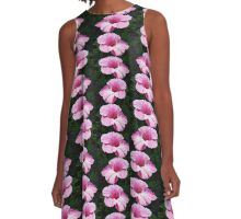 Pink Hibiscus  A-Line Dress