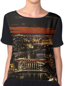 Melbourne Sunset Chiffon Top