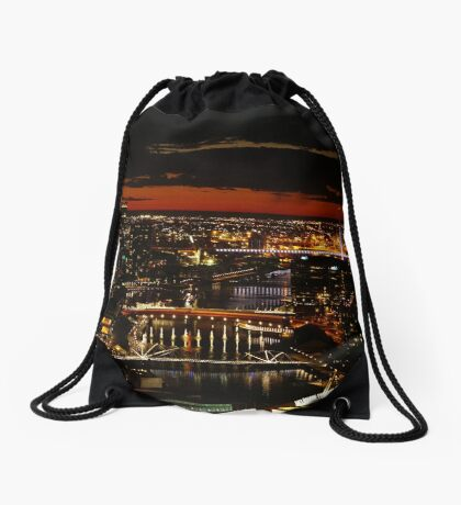 Melbourne Sunset Drawstring Bag