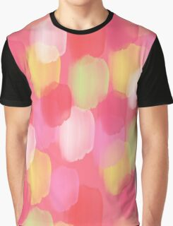 Pink Pastel Splat Graphic T-Shirt