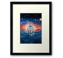 A smooth sea never made a skillful sailor Framed Print