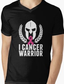 Fighting Cancer Warrior Breast Victims Support T-Shirt Mens V-Neck T-Shirt