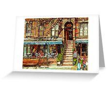 NEW YORK CITY MOGADOR CAFE RESTAURANT Greeting Card
