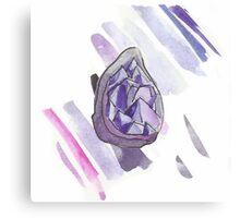 Amethyst Geode with Lavender Streaks Canvas Print