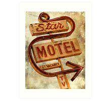 Vintage Star Motel Sign Art Print