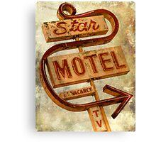 Vintage Star Motel Sign Canvas Print
