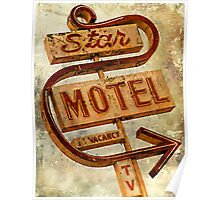 Vintage Star Motel Sign Poster