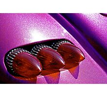 Bullet tail lights and purple metal flake Photographic Print
