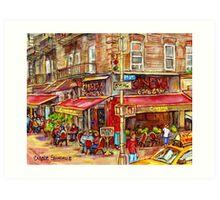 CINEMA CAFE NEW YORK CITY Art Print