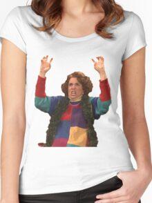 Kristen Wiig: freakin excited  Women's Fitted Scoop T-Shirt