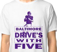 The Baltimore Ravens Joe Flacco is a Elite Quarterback Classic T-Shirt