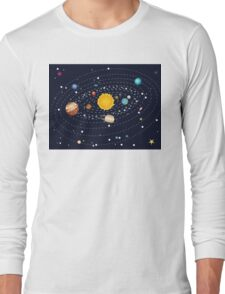 Planets of Solar System Long Sleeve T-Shirt