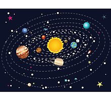 Planets of Solar System Photographic Print