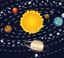 Planets of Solar System Sticker