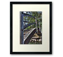 Leaf on bridge, HDR Framed Print