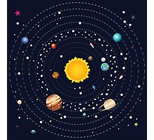 Planets of Solar System 2 Photographic Print