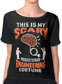 Brain scary Engineering Chiffon Top