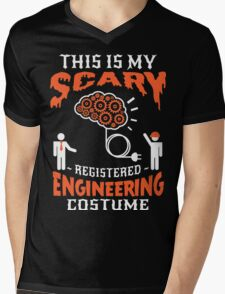 Brain scary Engineering Mens V-Neck T-Shirt