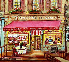 FRENCH PASTRY SHOP PATISSERIE DE NANCY MONTREAL by Carole  Spandau