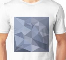 Black Coral Blue Abstract Low Polygon Background Unisex T-Shirt