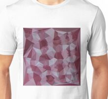 Cornell Red Abstract Low Polygon Background Unisex T-Shirt
