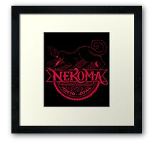 Haikyuu Team Types: Moulin Rogue Nekoma BLACK Framed Print