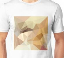 Corn Yellow Beige Abstract Low Polygon Background Unisex T-Shirt