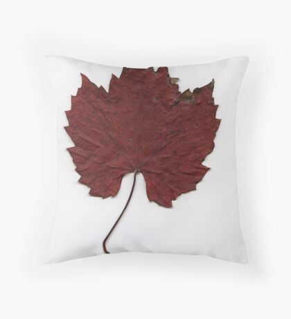 Russet red Throw Pillow