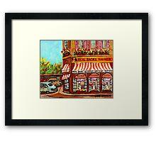 MONTREAL BAKERY REAL BAGEL SHOP Framed Print