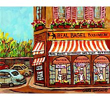 MONTREAL BAKERY REAL BAGEL SHOP Photographic Print