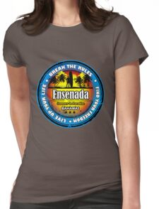 Longer Night In Ensenada Womens Fitted T-Shirt