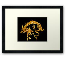 Gold Chinese Dragon Framed Print