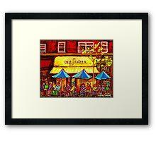 LESTER'S DELI MONTREAL RESTAURANT Framed Print